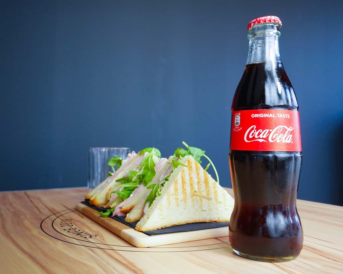 Toast con coca cola